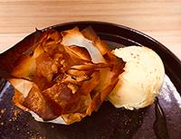 本日のお菓子:焼きたてあつあつアップルパイ