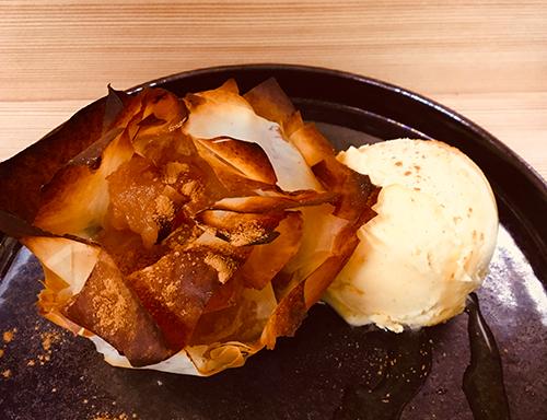 本日のお菓子:焼きたてアップルパイ